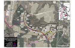 Halifax Corporate Park Map - Regional Airport, CSX Rail, Industrial Utilities